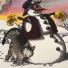 kliban cat and snowman