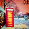 phone box snow