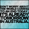 Already tomorrow in Aust