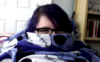 fat, purple hair, snuggie, lesbian, nerdy