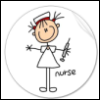 nurse - sweet in circle