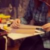 творчество рисунки краски рыжая