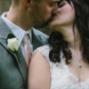 wedding: kiss close-up