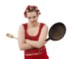 баба со сковородкой