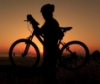 sunset with mtb