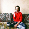 photo: girl tea couch