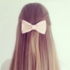 hair and ribbon
