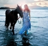 в море с лошадью