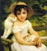 кошки, люди, красота