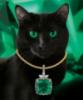 Украшения мира: кот с изумрудом