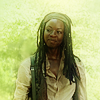 Angie: walking dead: smiling michonne