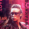 the 100: lexa: pink: love is weakness