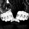 bleodswean: work hard knucks