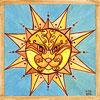 sun cat watercolor