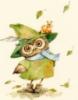 сова в зеленой шляпе