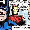 "Marvel Steve/Tony classic ""What a man"""