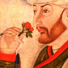 Mehmed II smelling a rose