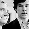 Sherlock BBC- Sherlock looking at John
