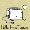 welcome to villa cariño!: I'm a toaster. <3