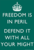 freedom is in peril