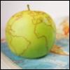 земной шар, яблоко