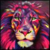 Лев разноцветный