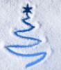 Елочка - рисунок на снегу