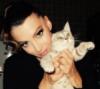 девушка и котя