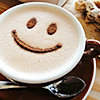 STOCK: smiley coffee