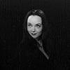 Addams Family Morticia Neg Space Smile