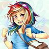 девочка радуга