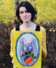 art, rabbit, me, my, yellow