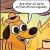 house, burning, africa