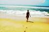берег, волны, океан, солнце