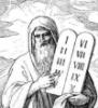 пророк Моисей с заповедями