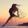 танец, прыжок, закат