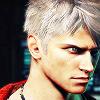 dante: white hair growly