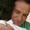 aragarna: Peter and Neal hug