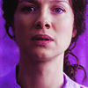 beccathegleek: Claire - Purple (up close) - Outlander