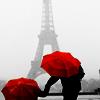 umbrellas and eiffel