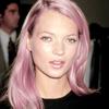 kate moss pink hair