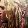 tv:100 - clarke - pink hair