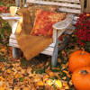 lijahlover: Autumn bench chair w/pumpkins