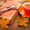 Autumn cuppa w/glasses