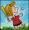 batting, peppermint patty