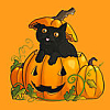 Occasions: Halloween (Cat in pumpkin)
