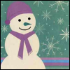 winter-lavender snowman