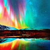 Rainbow || Rainbow northern lights.
