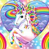 unicorn rainbow heart