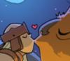 beast kissing knight